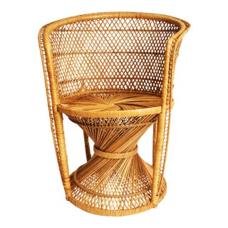 Vintage Wicker Bohemian Peacock Chair