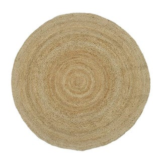 Contemporary Natural Round Jute Rug - 7' x 7'
