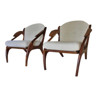 Adrian Pearsall Craft Associates Lounge Chairs - A Pair