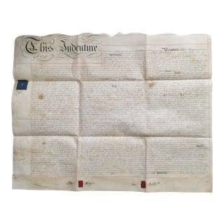 Antique 1840 English Indenture