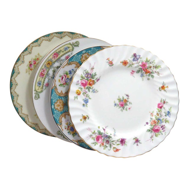 Vintage Mismatched China Dessert Plates - Set of 4 - Image 1 of 8
