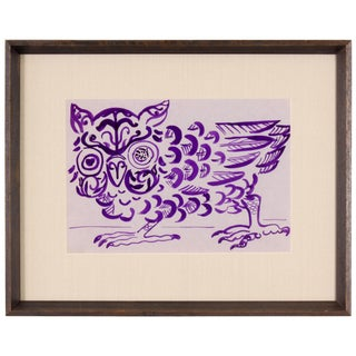 Purple Owl Painting by Phillip Callahan