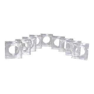 Mid-Century Acrylic Napkin Rings - Set of 9