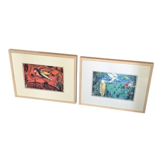 Marc Chagall Framed Prints - A Pair