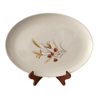Mid-Century Wheat Patterned Serving Platter