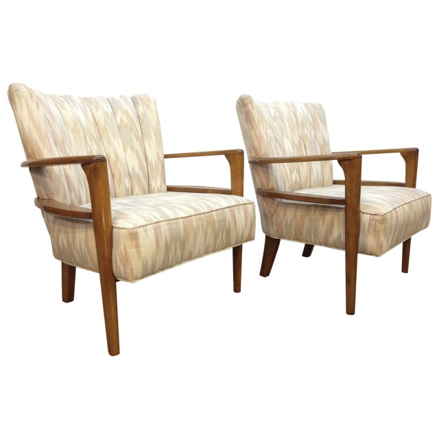Heywood-Wakefield Solid Maple Armchairs - A Pair - Image 1 of 5