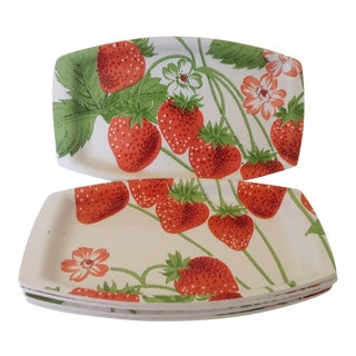 Strawberry Luncheon Plates - Set of 5
