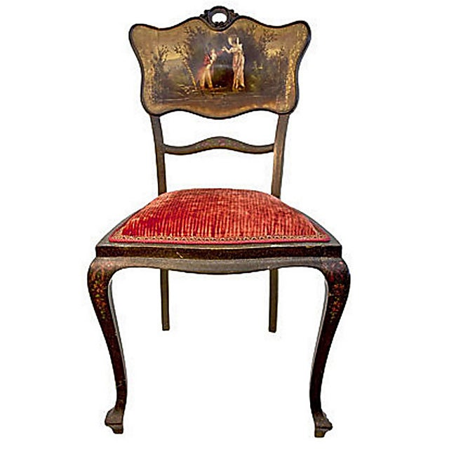 Hand Painted Chair Vintage - Image 1 of 7