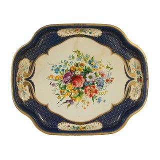 Vintage Floral English Tray