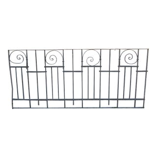 Antique Victorian Iron Gate Window Garden Fence Architectural Salvage Door #015
