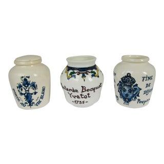 Vintage French Mustard Jars - Set of 3