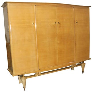 French Art Deco Sycamore Armoire