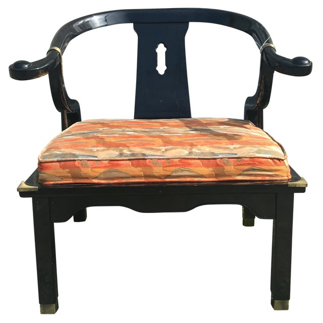 Vintage Chinoiserie James Monte Style Accent Chair - Image 1 of 4