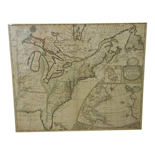 "Antique 18th C. Map-N. America-""A New Map Of The English Empire In America"" By Senex c.1719"