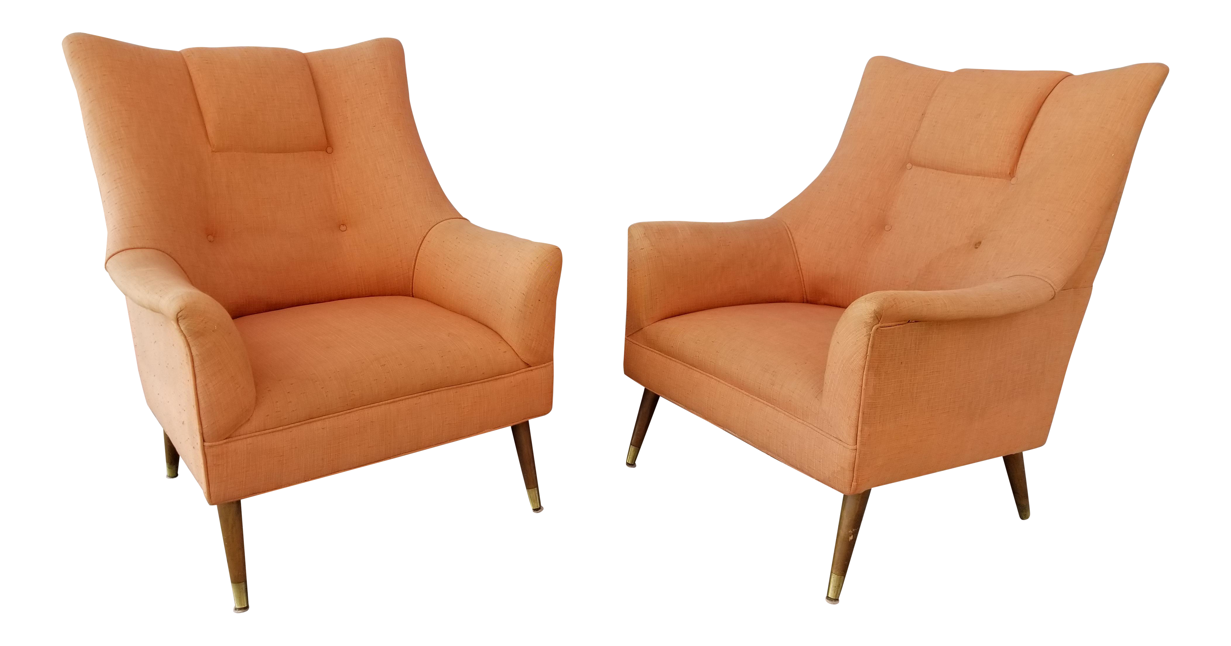 1960u0027s Lounge Chairs With Peg Legs   A Pair
