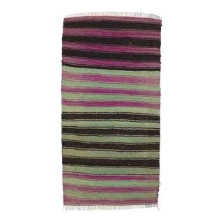 Colorful Striped Mini Kilim Rug - 1′8″ × 3′3″