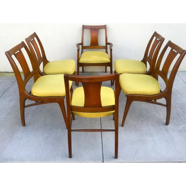 Mid Century Mod Curved Tailback Dining Chairs - 6 - Image 3 of 11