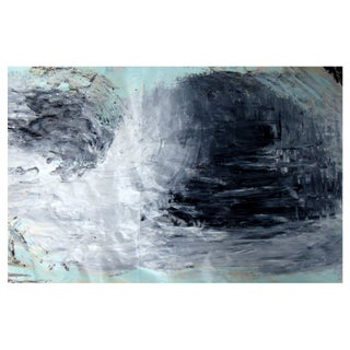 Suga Lane - Turbulence Une Original Acrylic Painting on Vintage Paper