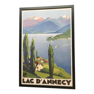 Framed Lake Annecy Travel Poster