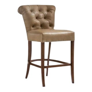 O. Henry House Leather Bar Stool