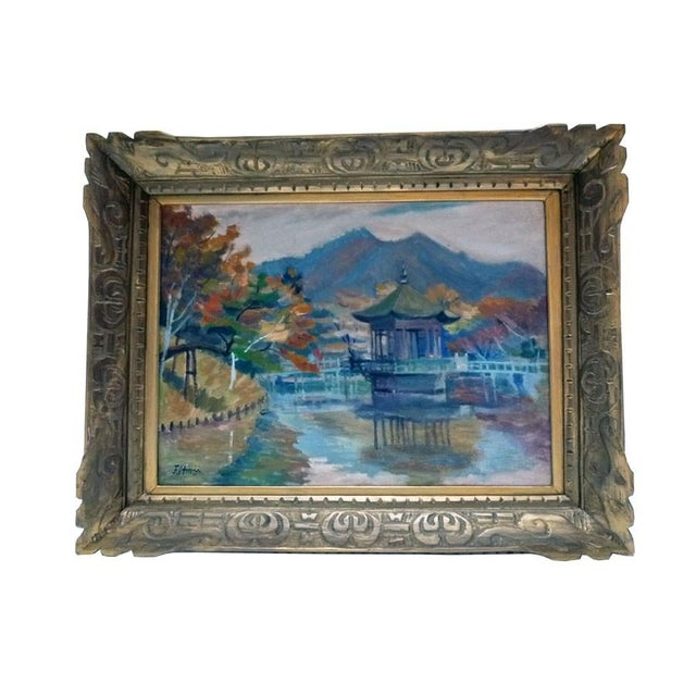 Asian Impressionist Painting by F. Honii - Image 1 of 4