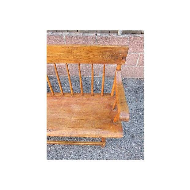 Vintage Windsor Bench - Image 2 of 2