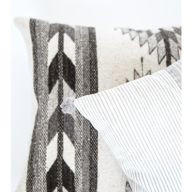 Grey Oaxaca Wool Pillow Cover - Image 5 of 5