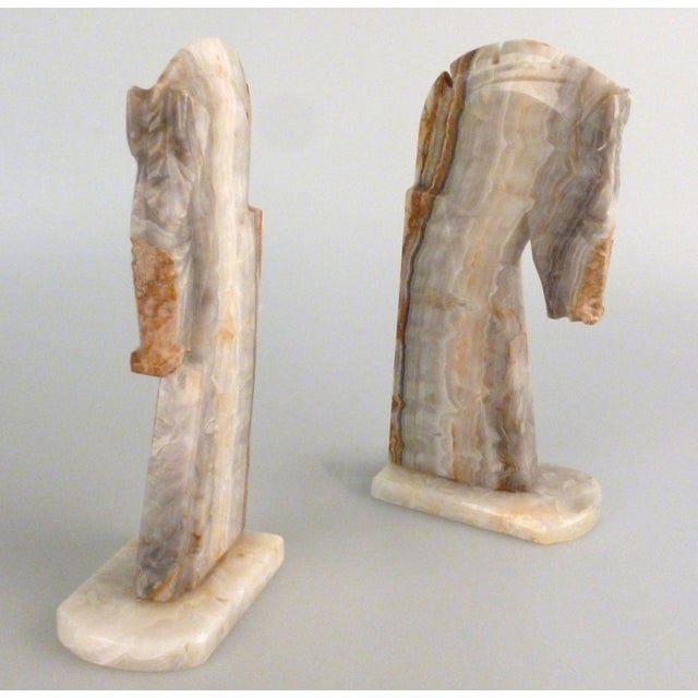 Handmade Onyx Horse Bookends - A Pair - Image 9 of 9