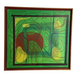 Mid-Century Modern Barbara Blume Abstract Painting