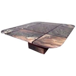 Bendixen Design Mid-Century Marble Top Cocktail Table