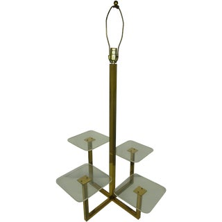 Brass & Lucite Multi Tiered Display Table Lamp
