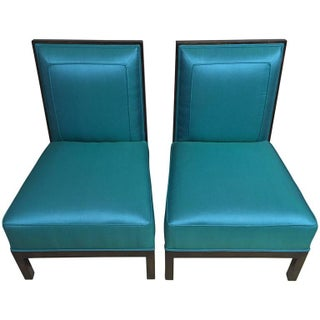 Turquoise Lounge Chairs - Pair