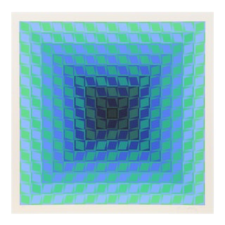 CTA Blue 2 by Victor Vasarely