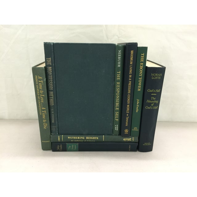 Image of Green & Gold Decorative Books - Set of 8