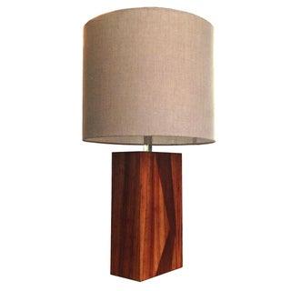 Rare Laurel Rosewood & Teak Table Lamp c.1970