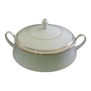 Noritake Gold & White Serving Bowl