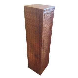 Solid Acacia Pedestal