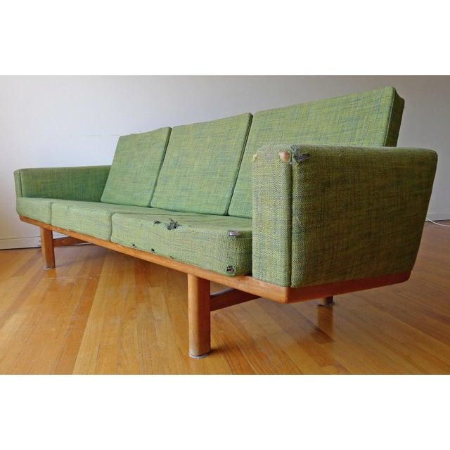 Mid Century Danish Hans Wegner Ge 236 Getama Sofa Chairish
