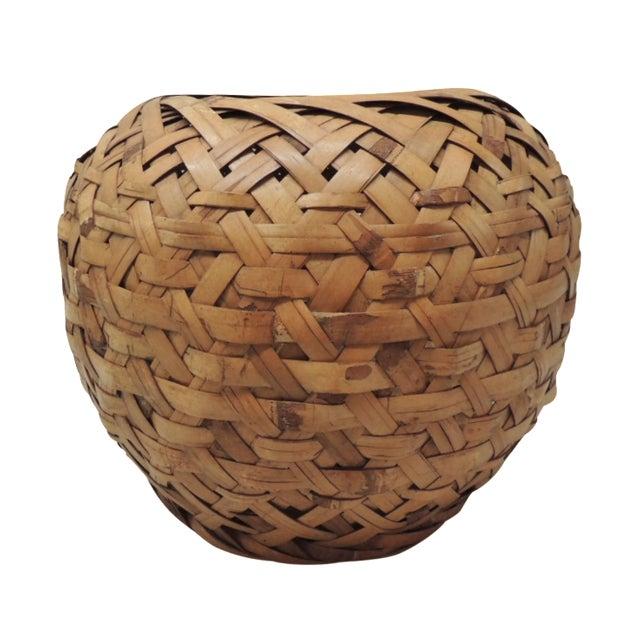 Vintage Woven Bamboo Basket - Image 1 of 3