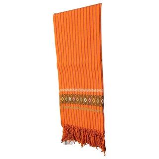 Handmade Chiapas Orange Bed or Table Runner