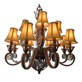 Contemporary Gold Gilded Chandelier