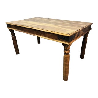 Vintage Asian Solid Wood Dining Table