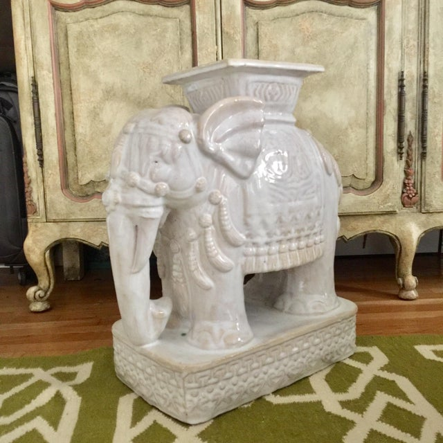 Elephant Shaped Terracotta Garden Seat / Stool - Image 3 of 11