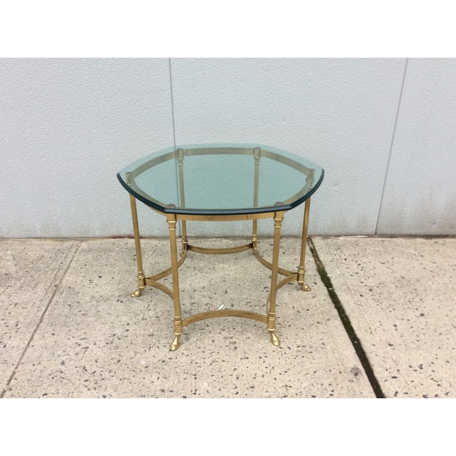 Vintage La Barge Octagonal Brass Side Table - Image 2 of 8