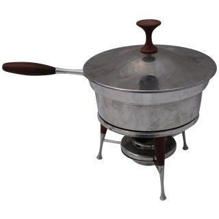Mid-Century Modern Teak Handled Chafing Dish
