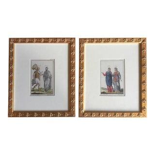 Antique Framed Prints - Set of 8
