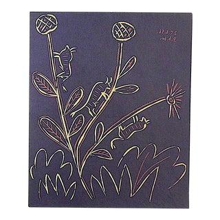 """Vintage Picasso Lithograph-""""Plante Aux Toritos"""