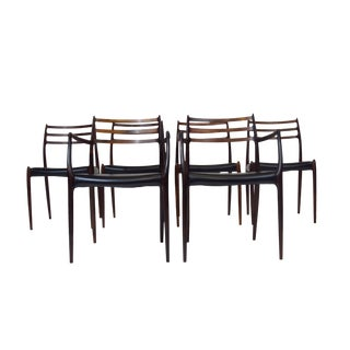 "JL Moller Rosewood ""Carver"" Dining Chairs"