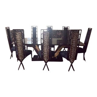 Christopher Guy Dining Room Table & Chairs - Set of 9