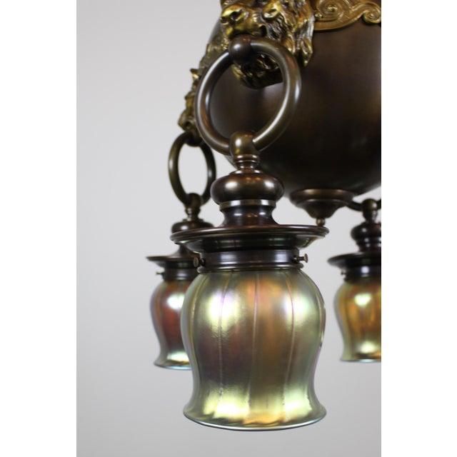 Classic Revival Lion Light Fixture - Image 9 of 10